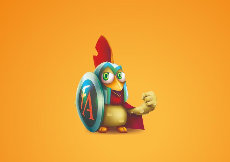 Criação de mascote Frango Attack