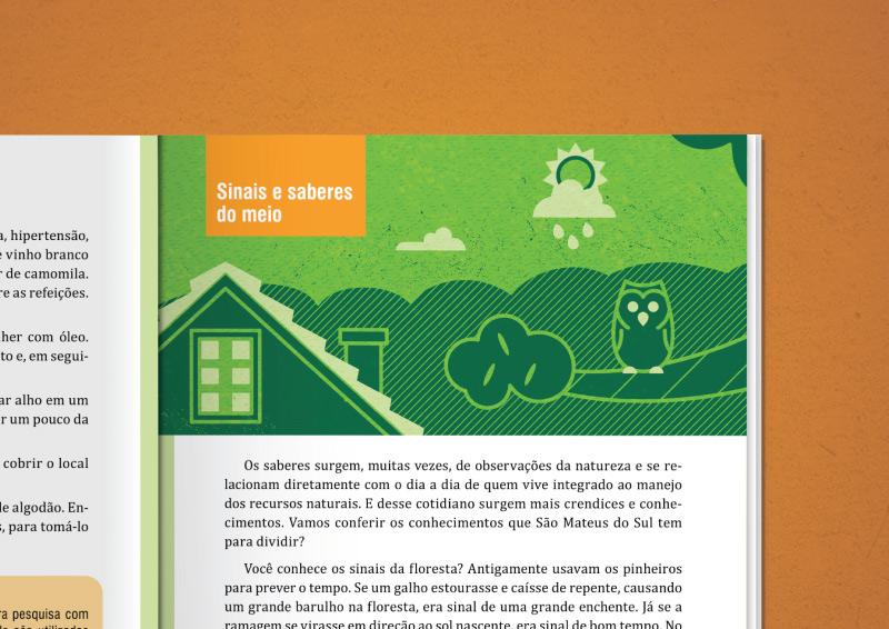 Ilustração editorial sobre educação ambiental