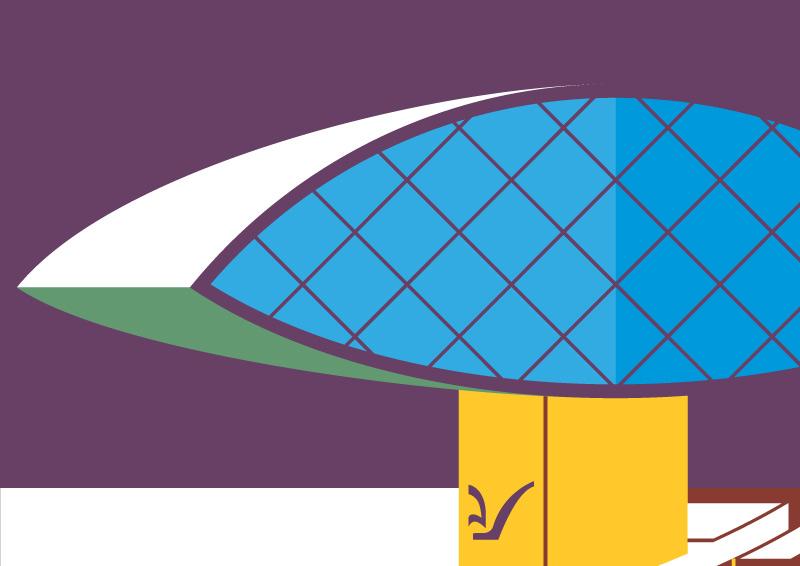 Ilustração Curitiba Museu Oscar Niemeyer